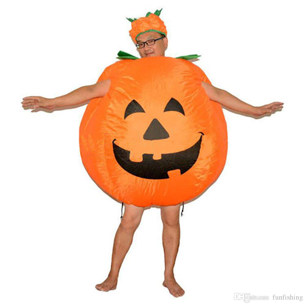 best halloween pumpkin cosplay inflatable costumes for adult in