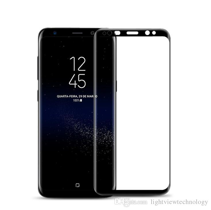 brand new 74dda 52dec 0.2MM 3D Full Cover Curved Tempered Glass Screen Protector For Samsung  Galaxy S8 S7 edge Plus Note 9 S6 Note 8