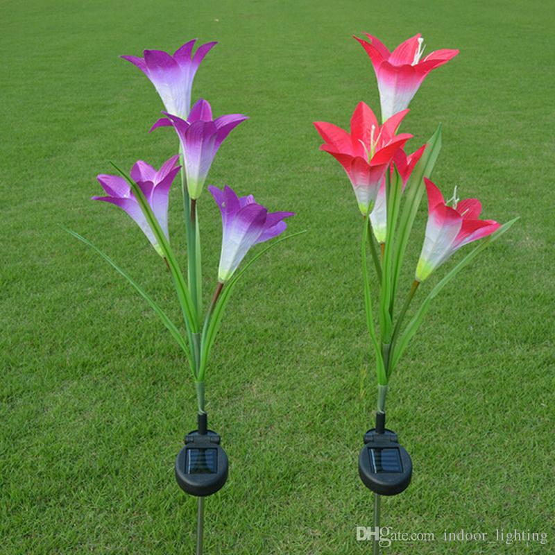 Anti True Solar Flowers Lamp Lily Solar Lights Lawn Garden Home Outside Tree  Decoration Led Solar Light Garden Decoration Solar Lights Online With ...
