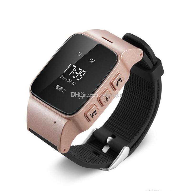 For Old Men Women iOS Android phones Smart Watch D99 Elderly Smart Watch Phone SOS Anti-lost Gps+Lbs+Wifi Tracking Smart Watch