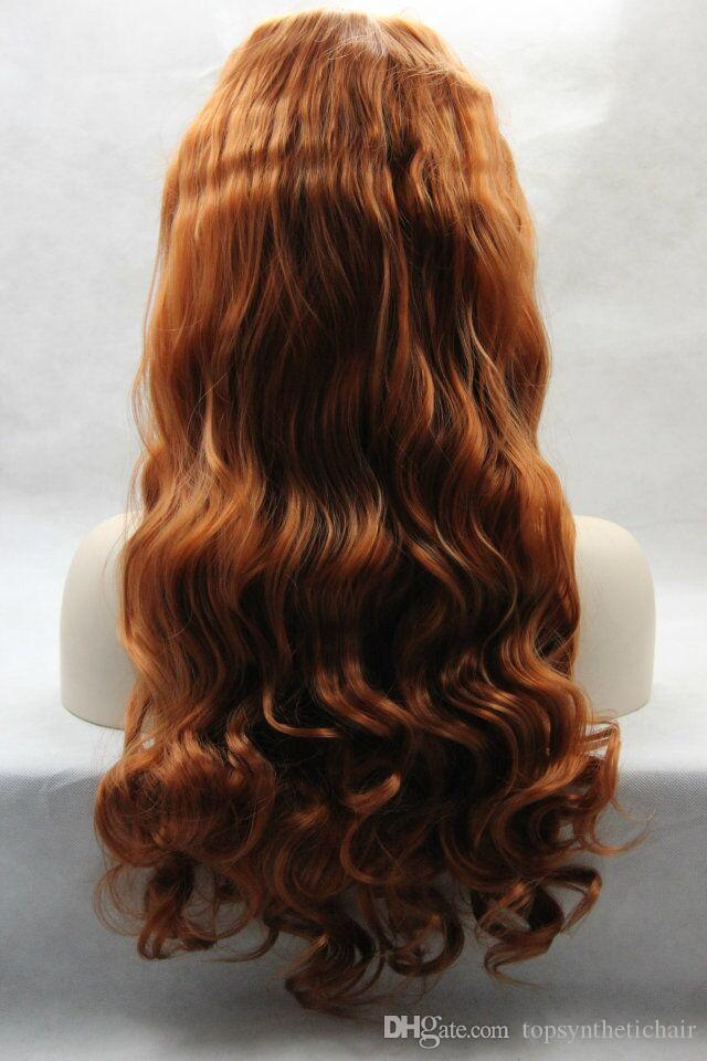 Full Density Long Bady Wave Synthetic Lace Front Wigs With Baby Hair Afro American Wigs Synthetic Wigs For Black Women Female Hairstyle