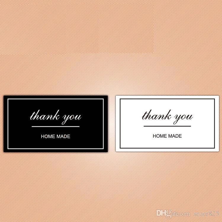 Thank you Home made lable Sticker Bronzing Kraft paper sticker DIY baking products sealing sticker for Cards Box Gift Bake Package