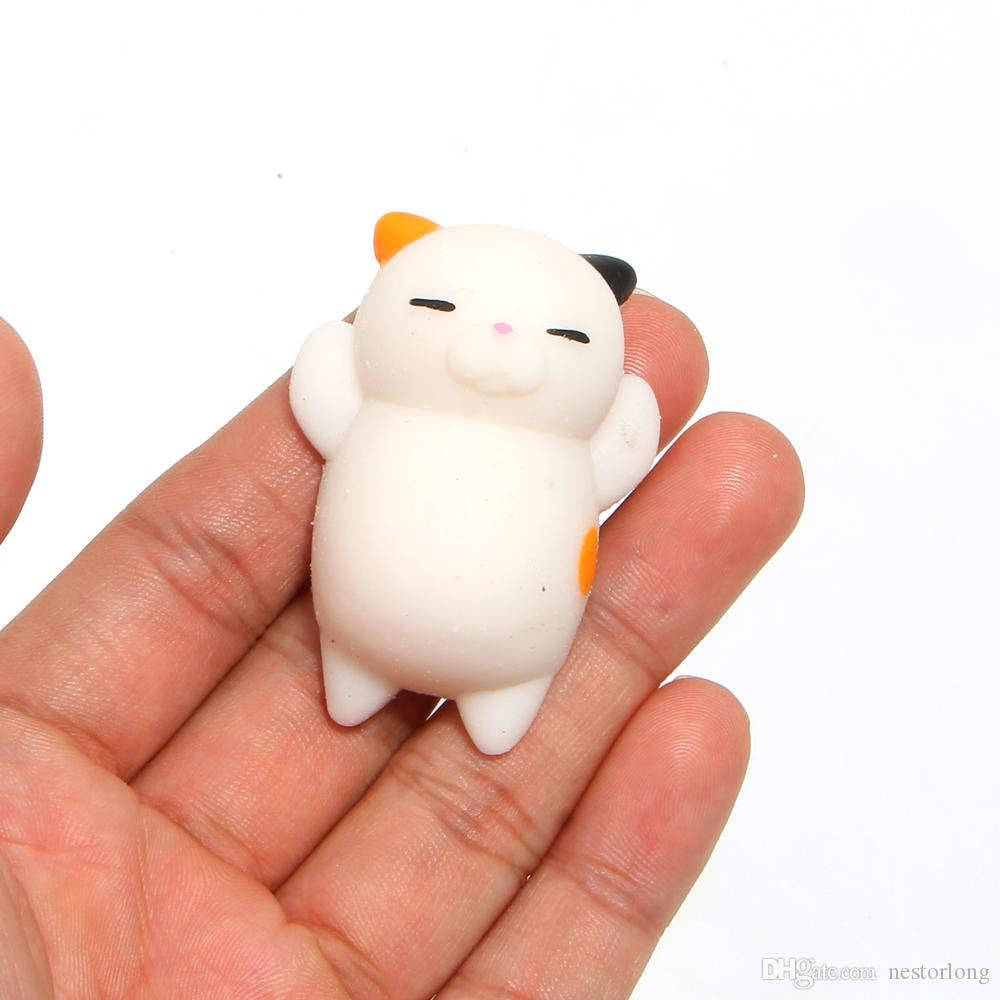 6CM Ushihito Cartoon Kawaii Animal Squishy Bread Lazy Sleep Cat pussy Slow Rising Cell Phone key Straps Kid Toys Christmas Gift