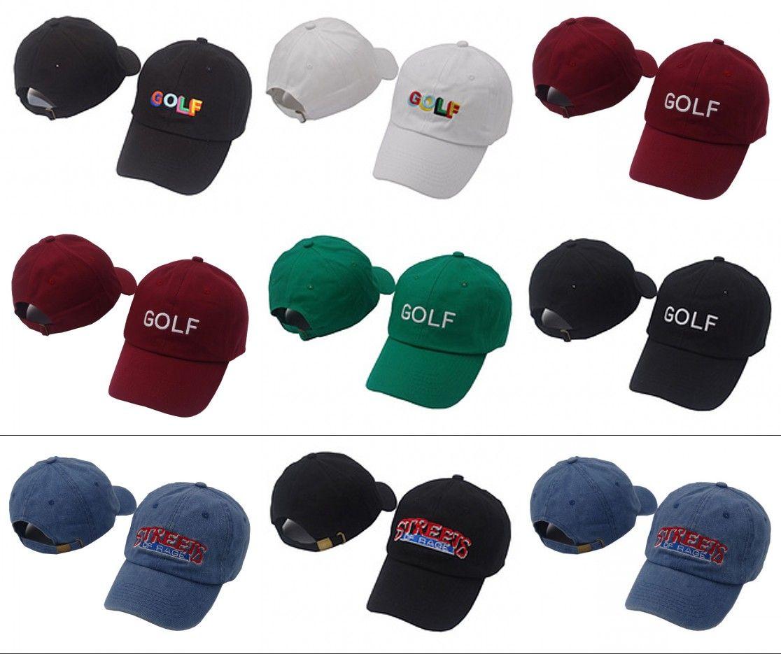 Tyler The Creator Golf Hat - Black Dad Baseball Cap Wang Cross T-shirt Earl  Odd Future Casquette for Men Women Lit Caps Hats Tyler The Creator Golf Hat  ... 83090c6712b