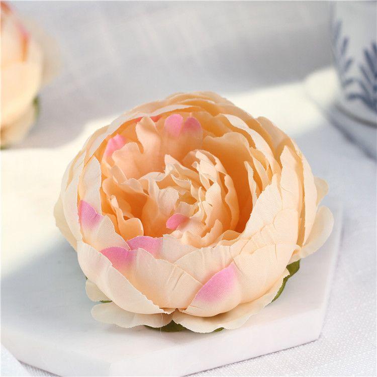 10cm Yapay Çiçekler için Düğün Süsleme İpek Şakayık Çiçek Başkanları Parti Dekorasyon Çiçek Duvar Düğün Backdrop Beyaz Şakayık