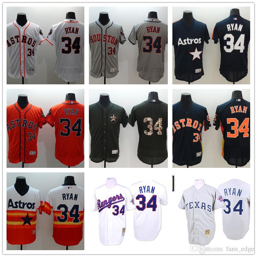 cd739f40f8d ... Throwback Houston Astros 34 Nolan Ryan Jersey White Grey Orange Blue  Stitched Texas Rangers Nolan Ryan ...
