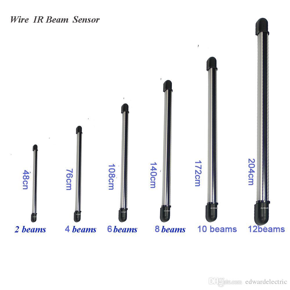 GZGMET 2 4 6 8 10 12 Metal Case Beams Digital Infrared Barrier Beam  Detector Window Perimeter Alarm System Fence Sensor