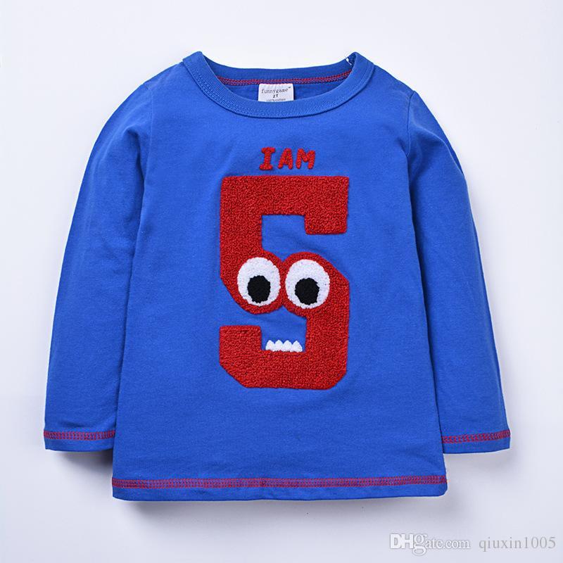Primavera otoño niños camisa de manga larga para bebés niñas niños ropa de algodón sudaderas con capucha ropa de bebé