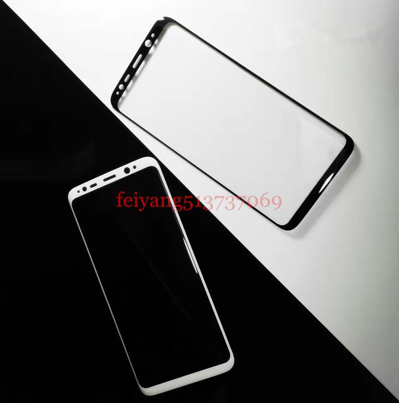 Full 3D Curved Tempered Glass Film 9H Front Protective Screen Protector For Samsung Galaxy S8 G950/ S8 Plus G955