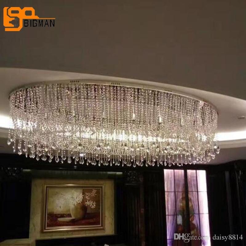 New Design Modern Crystal Chandelier Led Lamp Length 120cm Lustre De ...