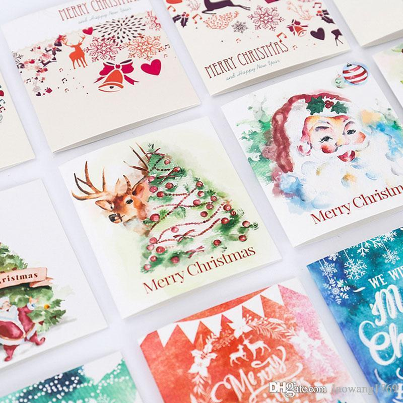 christmas theme folding merry christmas message card with envelope