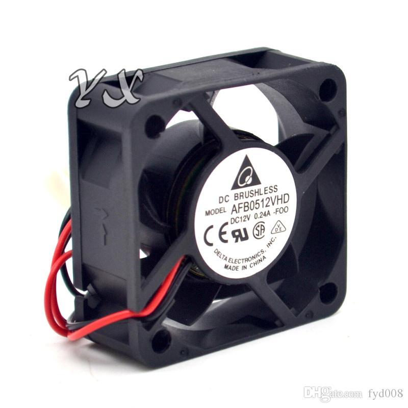 Nuevo AFB0512VHD 5020 12V 0.24A 5cm servidor de ventilador de rodamiento de bolas doble para DELTA 50 * 50 * 20 mm