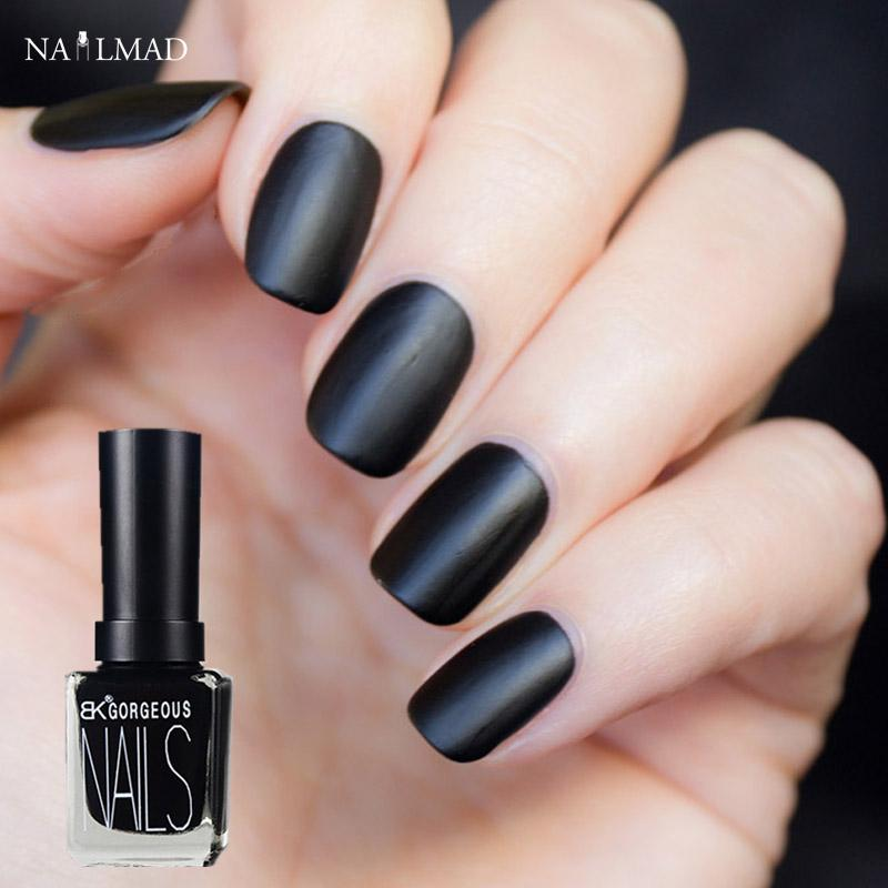 Wholesale 1 Bottle 15ml Black Color Matt Nail Polish Frosted Matte ...