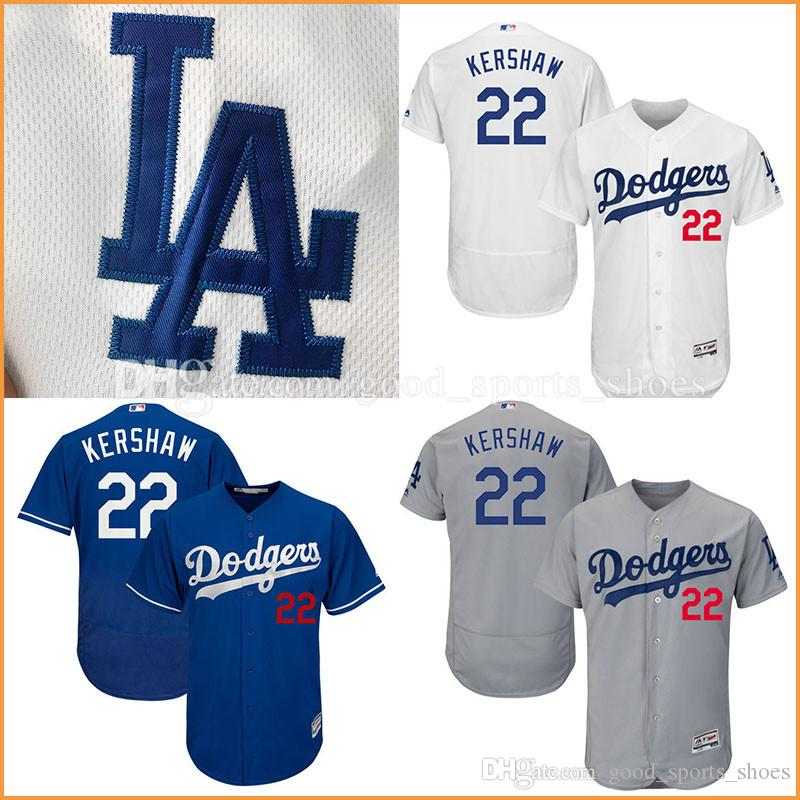 32d6e2e7d ... 2017 MenS Los Angeles Dodgers Mlb Jersey 22 Clayton Kershaw Baseball  Jerseys Majestic Flex Base Authentic ...