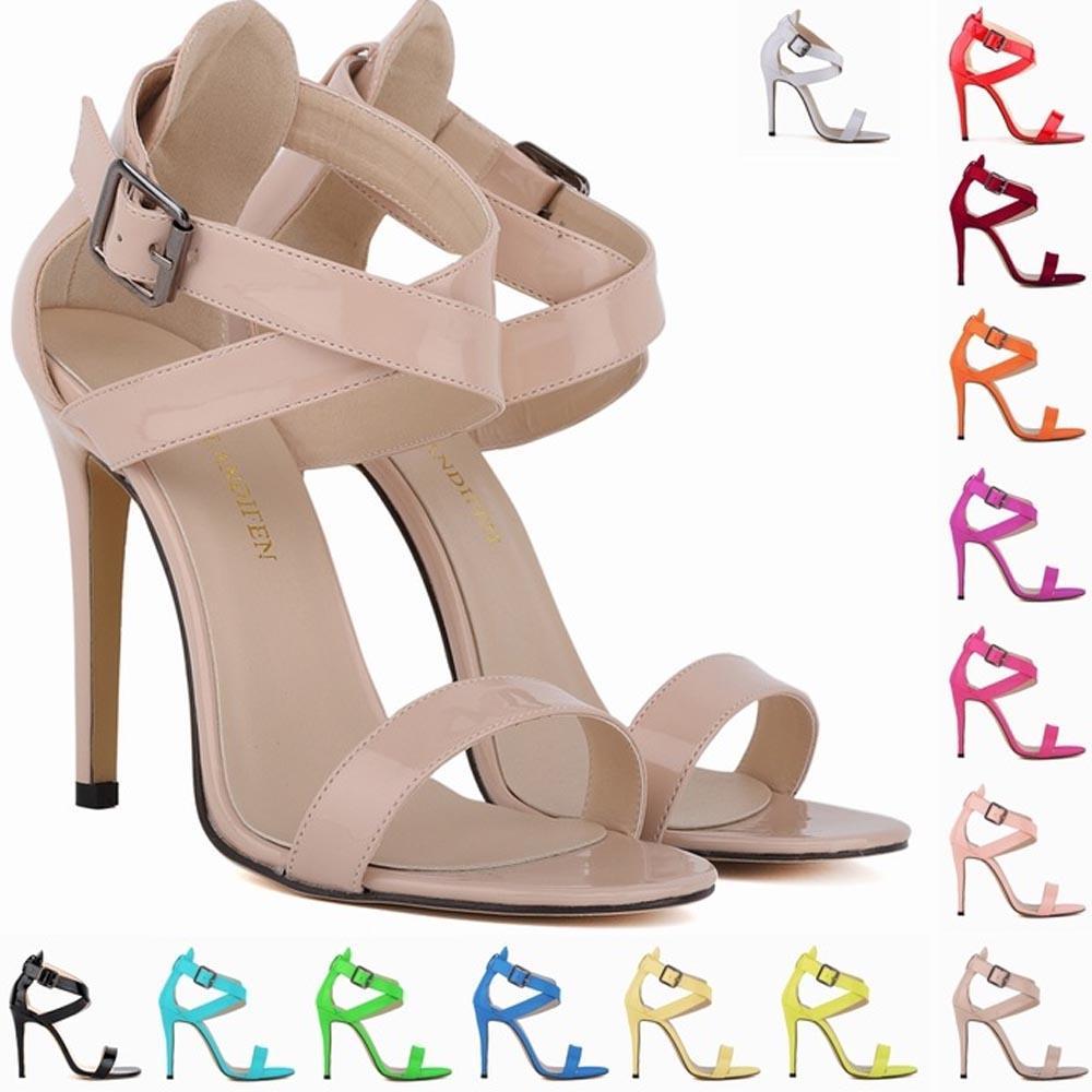 Sapato Feminino Donna Sexy Party Open Toe Bridal Bridal Toe Patent Pelle High   3c5169