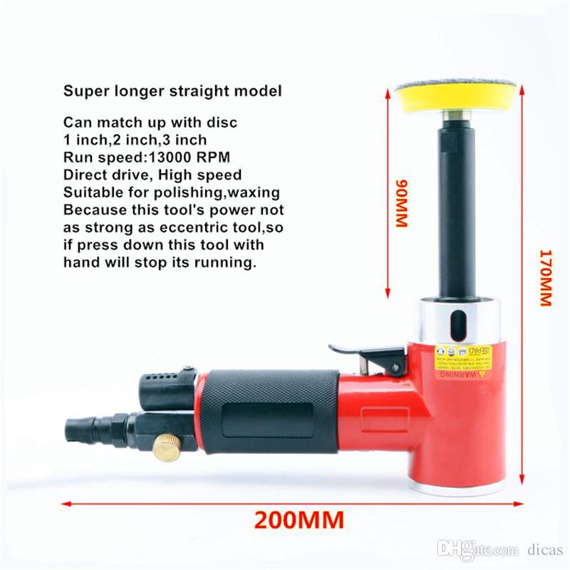 Freies verschiffen 1 zoll 90 grad kleine pneumatische polierer gerade centricity schleifmaschine luft schleifwerkzeug windschleifer polierer grinder