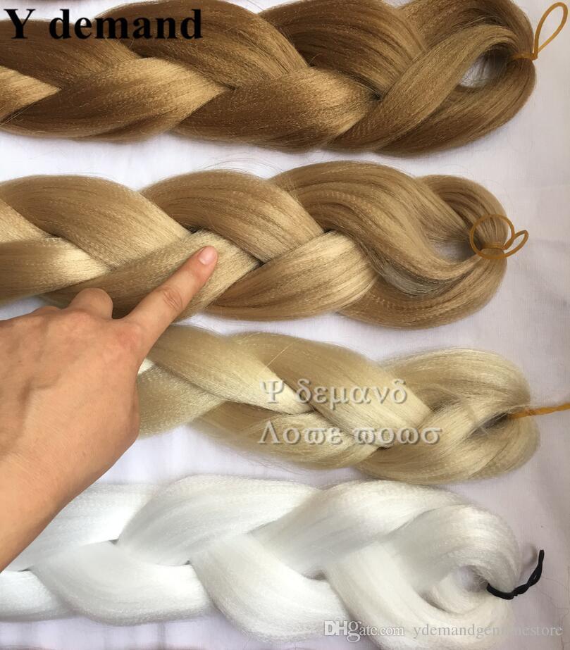 Cheveux tressés de tresse de Xpression africaine Ultra tresse cheveux synthétiques de 82 pouces 165G pour des tresses Blonde / blanc / bleu / vert / pourpre / rouge Y demande