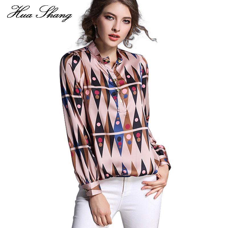Autumn Women Chiffon Blouse Long Sleeve Geometric Printed Shirts Ladies  Work Wear Office Formal Shirts Loose Summer Tops Women Shirt To Blouse Shirt  Work ...