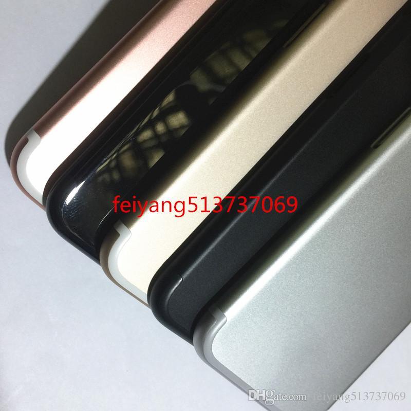 Una calidad Cubierta de la contraportada de la carcasa completa Batería de la puerta Parte intermedia Reemplazo de metal para iPhone 7 más 5.5