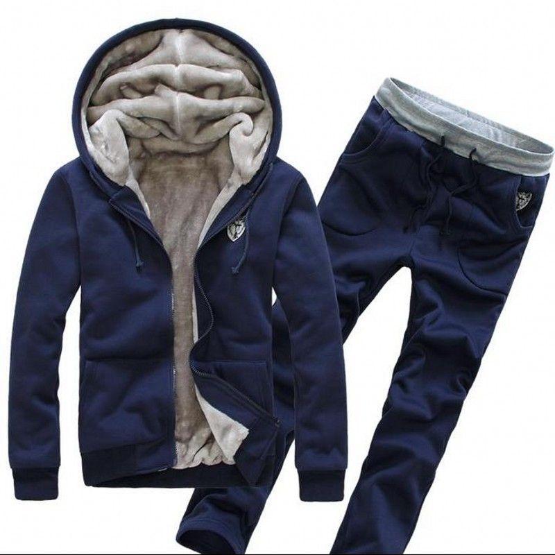 새로운 겨울 자 켓 망 후드와 스웨터 땀 정장 대형 남성 후드 세트 스포츠 양복 브랜드 망 Tracksuit 세트