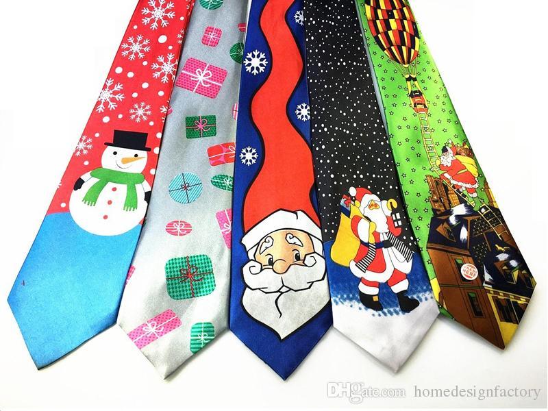 Großhandel Dünne Neuheit Krawatte Für 2017 Weihnachten Santa ...