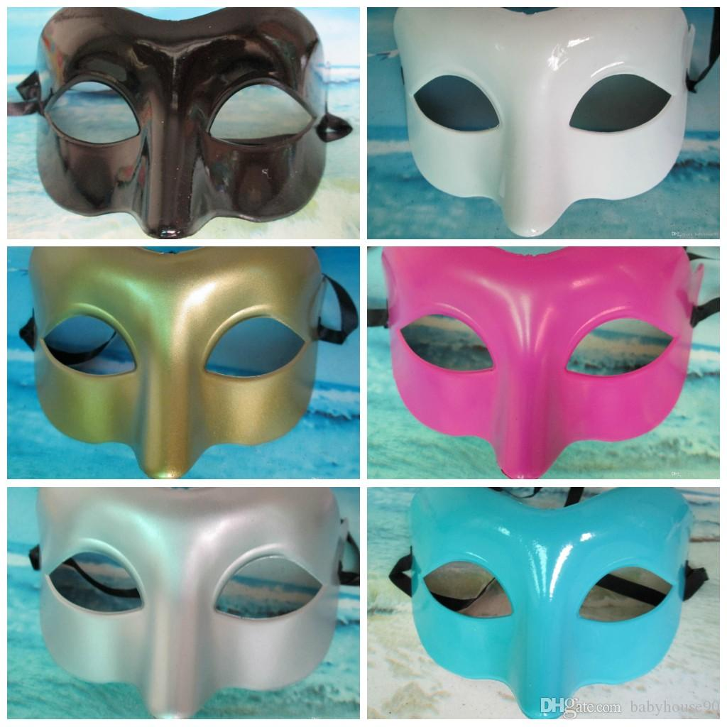 Plastic Venetian Masks Men Women Half Face Mask For Masquerade Party ...