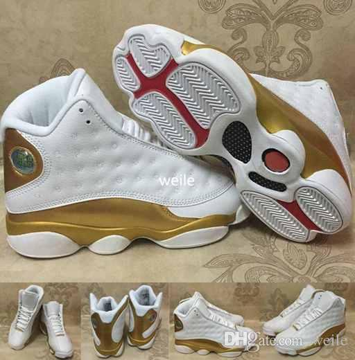 717366784030 2019 2017 DMP Mens 13 XIII Basketball Shoes White Gold 13s XIII High  Quality Men 98 Defining Moments Sports Trainers Sneakers Size 8 13 From  Weile