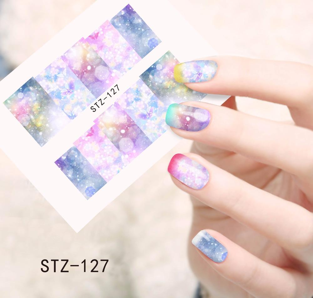 New Full Cover Stickers Nail Art Tips Water Transfer Decorations