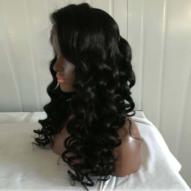 Parrucca piena dei capelli umani del merletto delle parrucche della parte anteriore del merletto dei capelli umani brasiliani di nuovo modo con gli scoppi da vendere