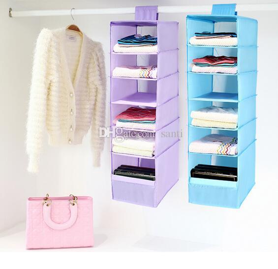 Nueva caja de 9 celdas que cuelga la ropa interior Clasificación de ropa Zapato Jean Almacenamiento Correos Puerta de la pared Armario Organizador Closet Organizador Bolsa