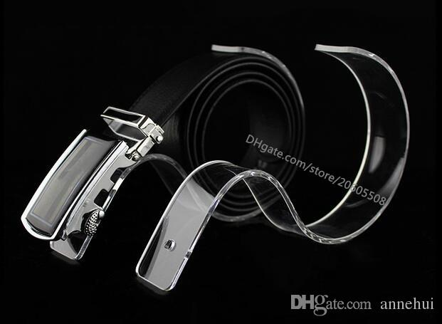 Großhandel Mode Boutiquen Display Requisiten Gürtel Display Rack S-Typ Acryl Display-Ständer Gürtelhalter Desktop-Gürtel