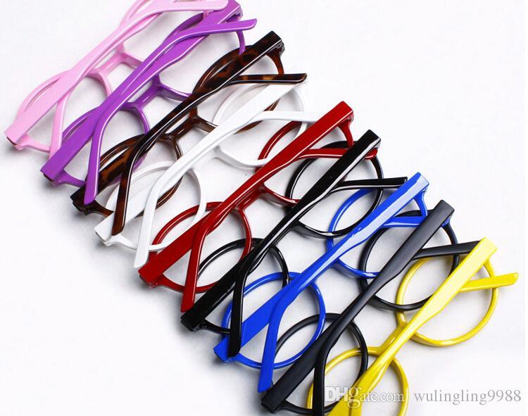 جديد وصول الطفل النظارات الإطار أطفال نظارات الأطفال نظارات ارالي الزخرفية لا عدسة جميل جولة البلاستيك الإطار
