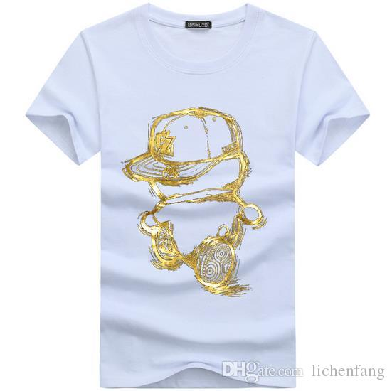 Heißer 2017 Sommer Mode hip hop Design T-shirt männer Hohe Qualität Benutzerdefinierte Gedruckt Tops Hipster Tees