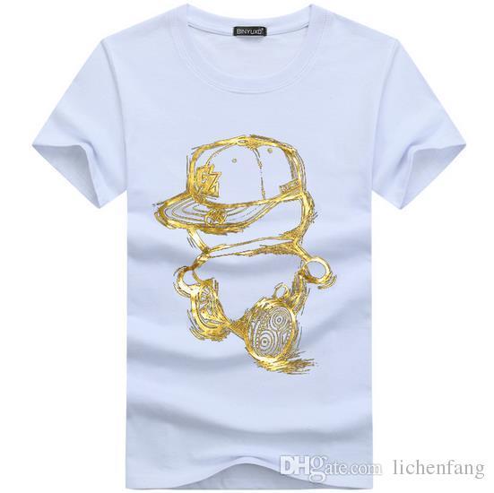 Hot 2017 Estate Moda hip hop Design T Shirt da uomo di alta qualità personalizzato stampato Top Pantaloni a vita bassa Tees