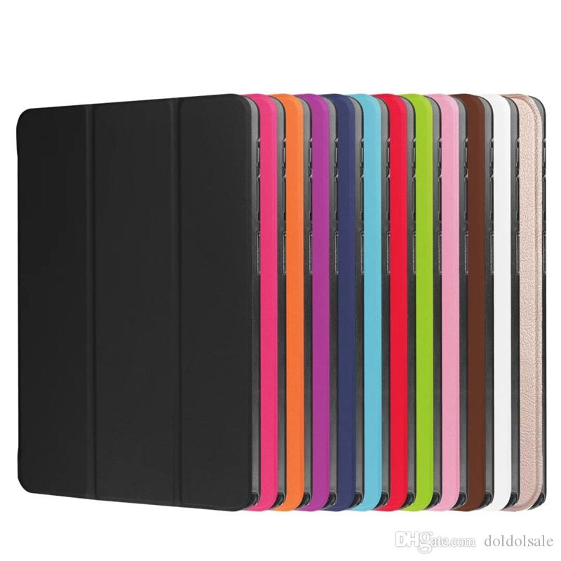 PU Leather Stand Case for Samsung Galaxy Tab A A6 10.1 P580 P585 Tablet Cover + Crystal Screen Protector Film