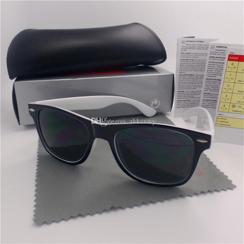 De alta qualidade Moda Masculina Sunglasses UV Protection Outdoor Esporte Mulheres Óculos vintage Retro Eyewear com caixa e casos