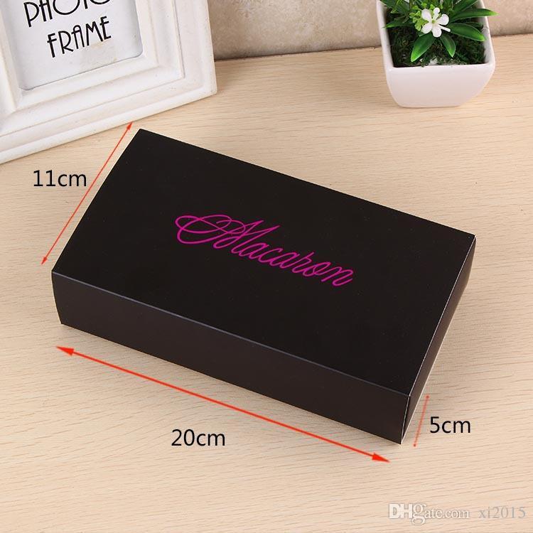 Macaron Box hält 12 Hohlraum 20 * 11 * 5cm Papier Party Boxes für Bäckerei Cupcake Snack Süßigkeiten Biskuit Muffin Box wa3247
