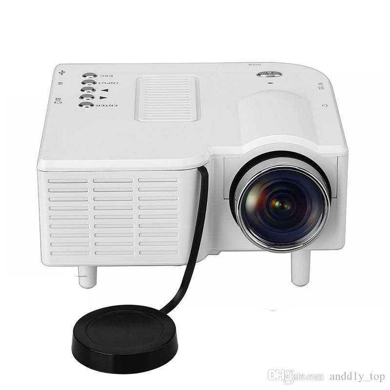 UC28+ Projectors Mini LED Portable Theater Video Projector Mobile Phone PC Laptop Home Audio Video with Retail Package