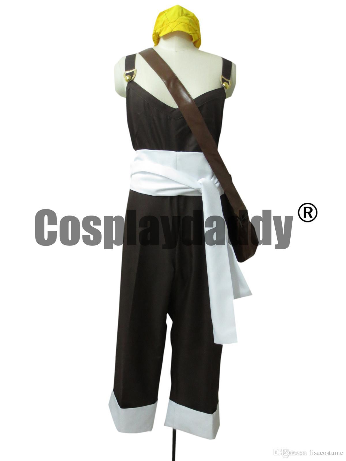 One Piece Cosplay Usopp Usoppu Bib Overalls Brown Costume H008 Japan