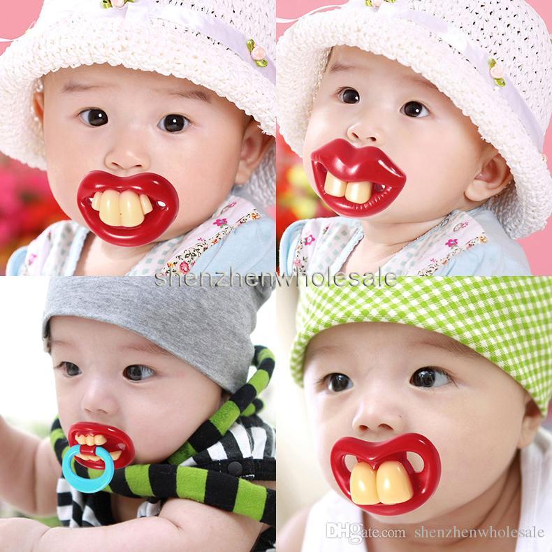 Bébé sucette drôle sucette Mignons Dents Moustache Bébé Garçon Fille Infantile Sucette Orthodontique Dummy Beard Nipples Tétines Sûres Livraison gratuite
