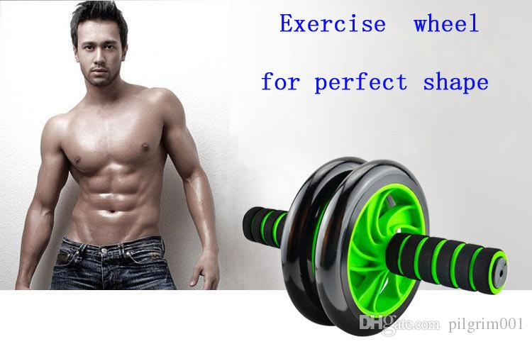 2017 New Arrival Power Wheel Abdominal Wheel Ab Roller For Exercise Fitness Equipment Lose Weight