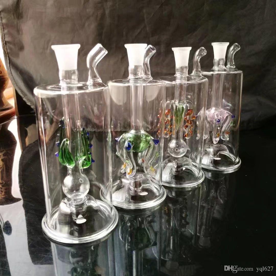 Cuatro bongs accesorios de vidrio medusas garra, accesorios al por mayor bongs de vidrio, vidrio pipa de agua, tubería de agua libre de humos del envío