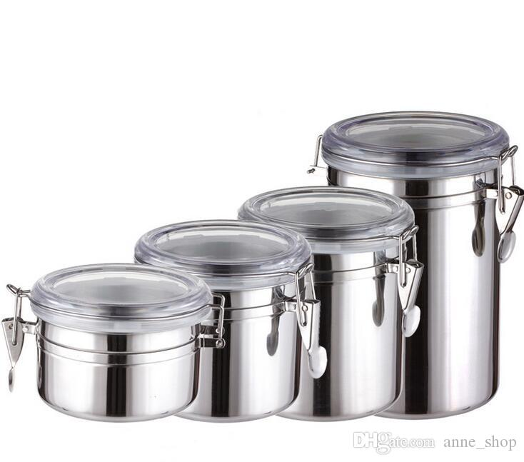 Hot Sale 4 Sizes Coffee Tea Sugar Storage Tanks Sealed Cans