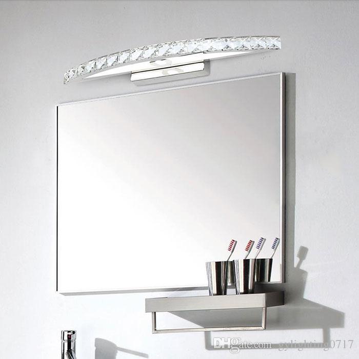 AC 110V 220V 230V 240V 10W Cristal led luces de espejo lámpara 44cm Moderno Champagne gabinete luces LED Vestido espejo dormitorio baño iluminación