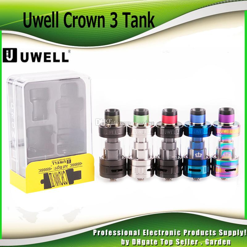 Authentic Uwell Crown 3 Tank with 5 0ml e-Juice Capacity with Top Filling  Large Clouds Crown III Coil Head 100% Genuine DHL Free 2231010