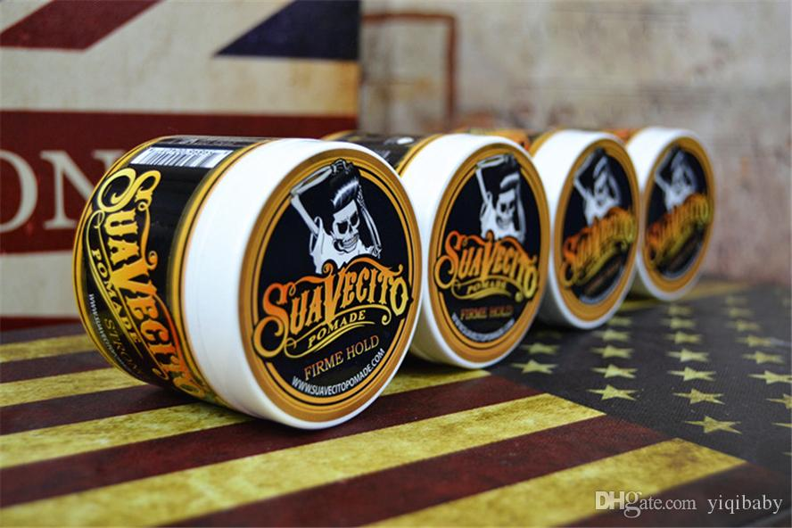 Suavecito Pomade Hair Gel Style firme hold Pomades Waxes Strong hold restoring ancient ways big skeleton hair slicked back hair oil
