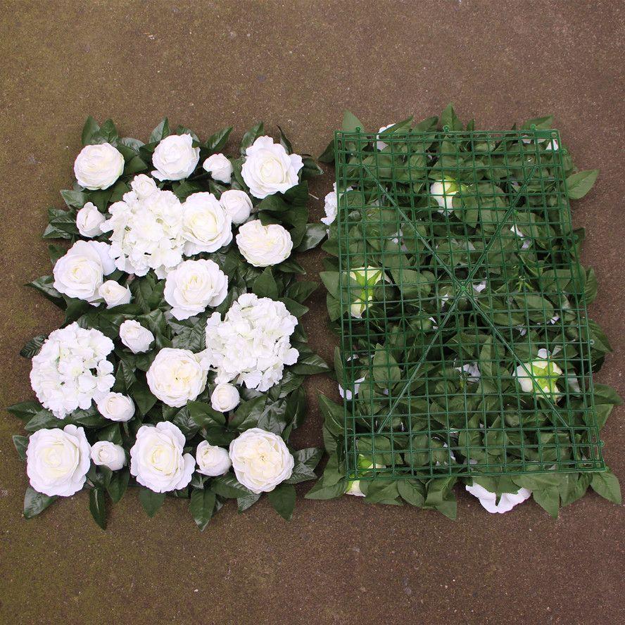 Artificial flower wall wedding backdrop rose new hydrangea peony leaves lawn/pillar road lead decoration