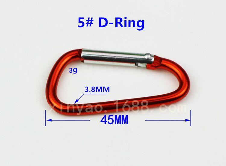 7 색 # 4 # 5 B / D 링 Carabiner 링 Keyrings 키 체인 캠프 스냅 클립 후크 Keychains 하이킹 알루미늄 금속 스테인레스 스틸 하이킹 캠핑
