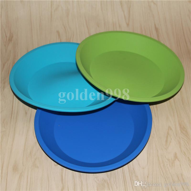 бесплатная доставка силиконовые лоток глубокая тарелка круглой кастрюле 8.5