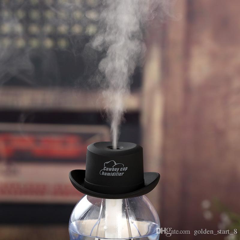 Nemlendirici USB 5 V 4 Renkler Kovboy Şapka Kap Ultrasonik Sisleyici Mist Maker Aroma Difüzör Difusor Aroma Difüzör Humidificador